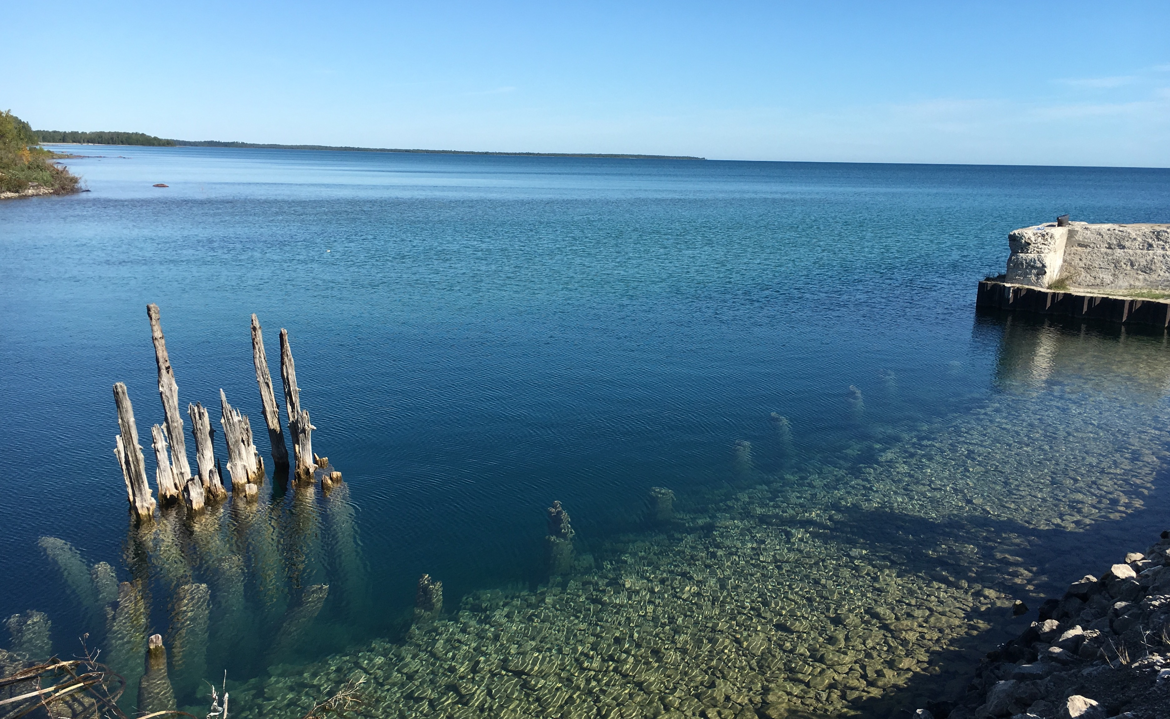 Lake huron mackinac island kiger tales a beautiful hike through the forest to the shores of lake huron on presque island sciox Gallery